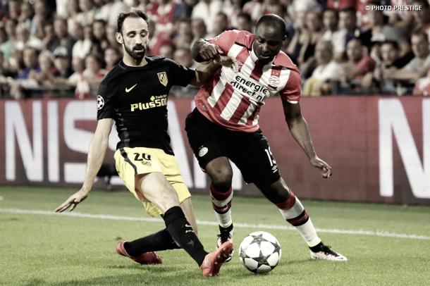 Willems en uno de los partidos que le enfrentó al Atlético de Madrid en Champions / Foto: PSV.nl