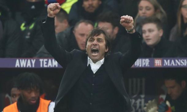 L'esultanza di Antonio Conte alla vittoria sul Palace | Foto: Clive Rose\Getty Images