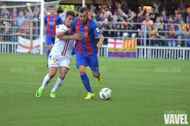 Perea, titular en el playoff ante la Cultural y Deportiva Leonesa   Foto: Noelia Déniz - VAVEL