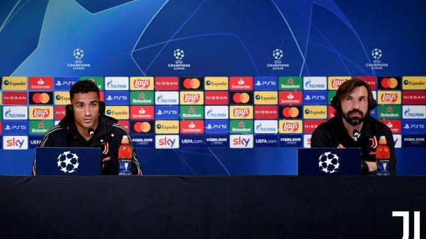 Danilo y Pirlo durante la rueda de prensa / FOTO: Juventus.com