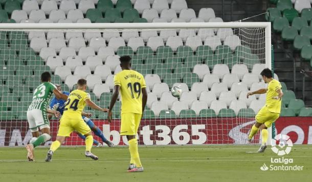 Penalti de Gerard Moreno / Foto: LaLiga