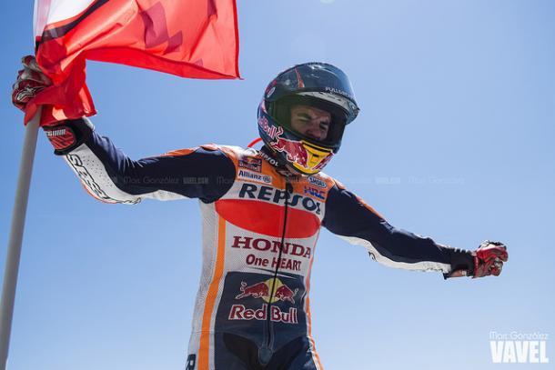 Márquez celebra la segunda posición en Montmeló / Foto: Marc Gonzalez