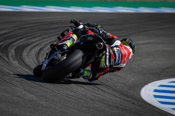 El inglés, durante los test de hoy. Imagen: MotoGP
