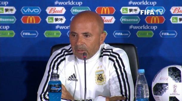 Sampaoli se mostró ilusionado con hacer un buen mundial. Foto: FIFA Tv
