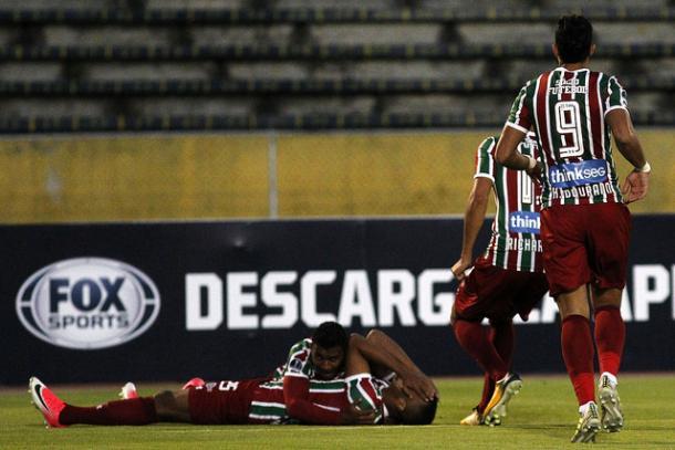Marlon Freitas é o primeiro jogador do projeto 'Flu Europa' a marcar no profissional do Fluminense (Foto: Nelson Perez/Fluminense FC)