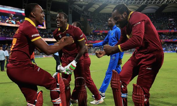 The West Indies celebrating their second World T20 triumph (Photo: Getty Images)
