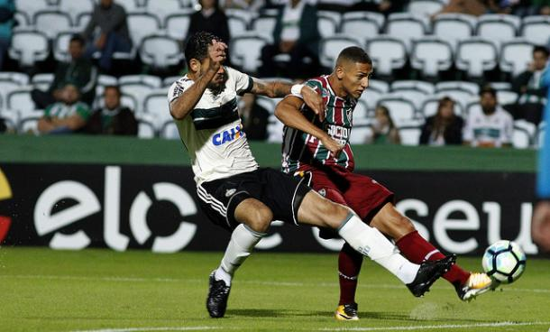 Richarlison abriu o placar para o Tricolor no Couto Perreira (Foto: Nelson Perez / Fluminense)