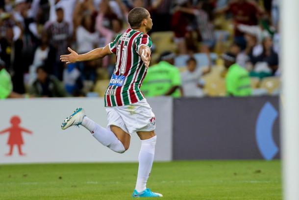 Wellington Silva marcou pela 1ª vez após a negociação com o Bordeaux, da França, não ter sido concluída. (Foto: Lucas Merçon/Fluminense FC)