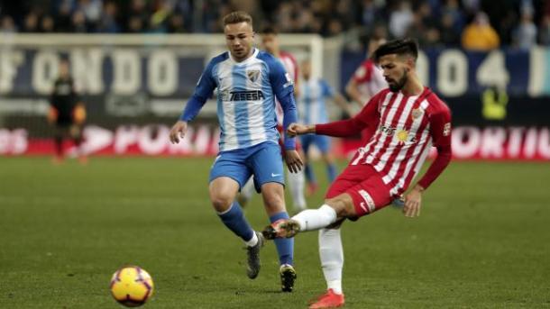 El Almería con la posesión | Fotografía: La Liga