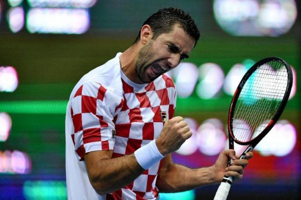 Marin Cilic is the highest-ranked player in the Davis Cup semis this week. Photo: Andrej Isakovic/AFP