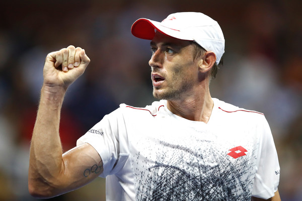 John Millman sent shockwaves through the tennis world by stunning Roger Federer on his way to the quarterfinals. Photo: Julian Finney/Getty Images