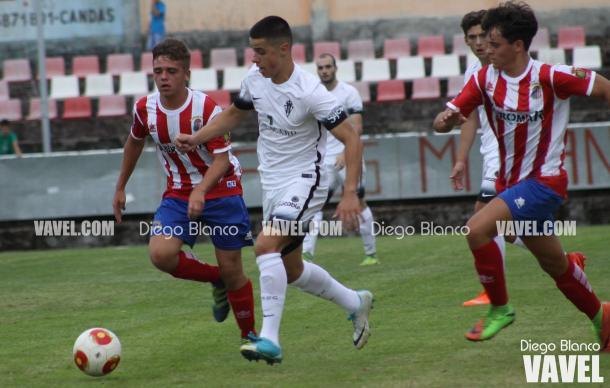 El Sporting B, rompiendo moldes (fuente Diego Blanco)