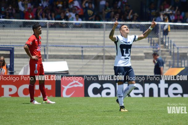 Nicolás Castillo festejando un gol ante Lobos I Foto: Rodrigo Peña VAVEL
