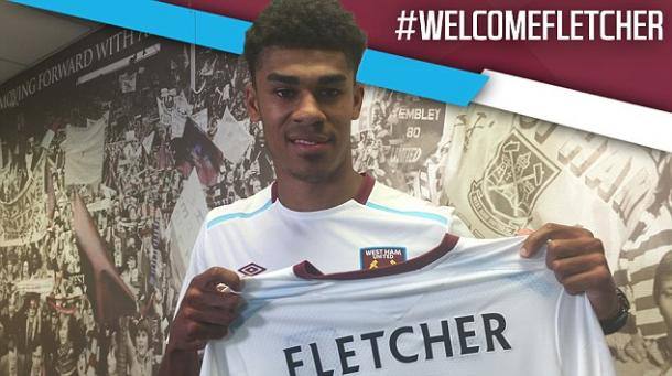 Above: Ashley Fletcher been unveiled as a West Ham United player | Photo: whufc.com