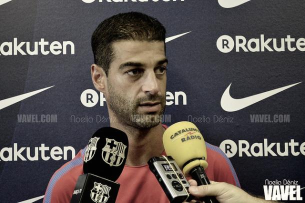 Gerard López atendiendo a la prensa. Foto: Noelia Déniz, VAVEL.com