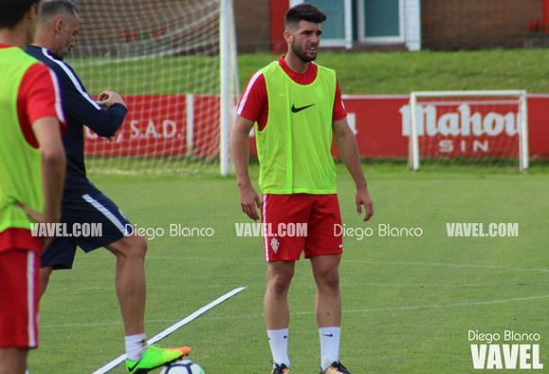 Calavera cayó lesionado en el encuentro del pasado fin de semana ante el Alcorcón // Imagen: Diego Blanco - VAVEL