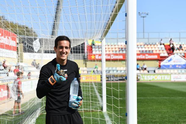 Edgar Badia, sonriente antes del partido ante el CA Osasuna de la pasada jornada | Foto: CF Reus
