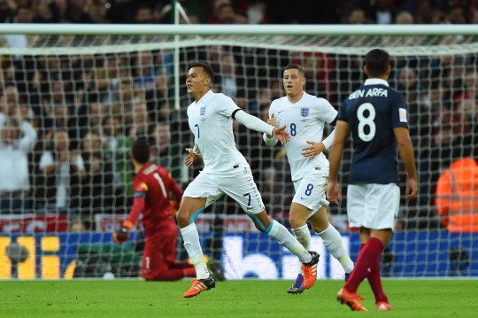 Alli scored on his England debut in Noeve