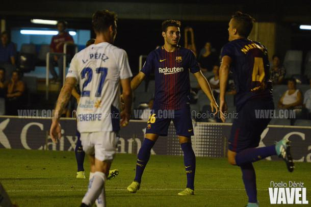 Abel Ruiz frente al CD Tenerife en el partido de la primera vuelta. Foto: Noelia Déniz, VAVEL