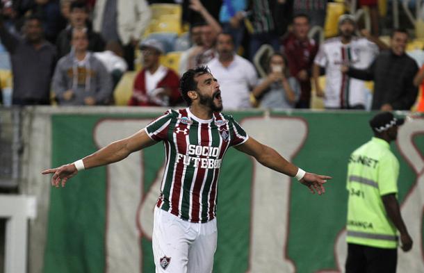 Henrique Dourado marcou o 25º gol dele no ano e igualou a melhor marca da carreira (Foto: Divulgação/Fluminense FC)