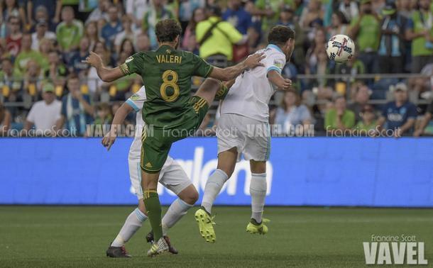 Not Valeri's (8) best night as a Timber, despite scoring a goal