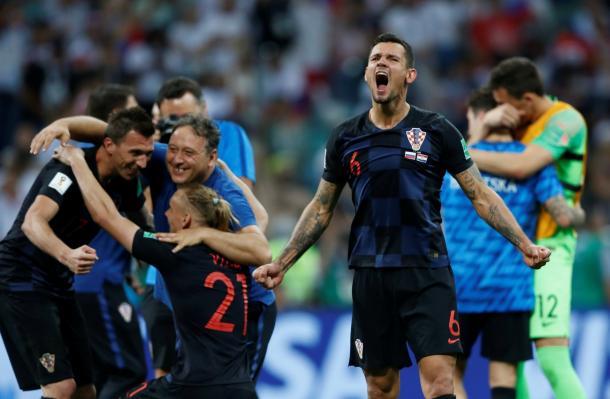Croacia celebrando la clasificación a la semifinal | Foto: Premier League