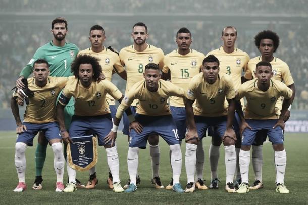 El equipo titular de Brasil que ya está clasificado a Rusia 2018 | Foto: Confederação Brasileira de Futebol