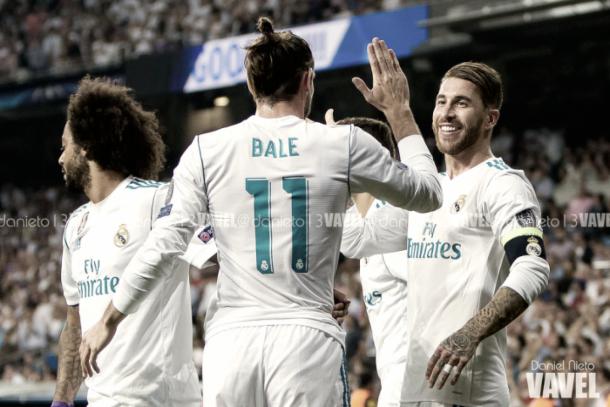 El Real Madrid celebra un gol en el Santiago Bernabéu | Foto: VAVEL