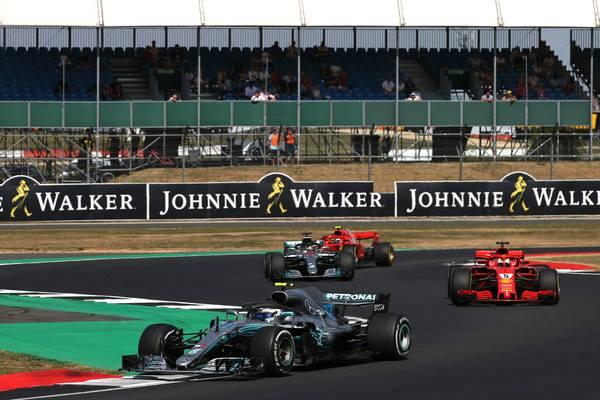 Bottas liderando en Silverstone | Foto: Getty Images