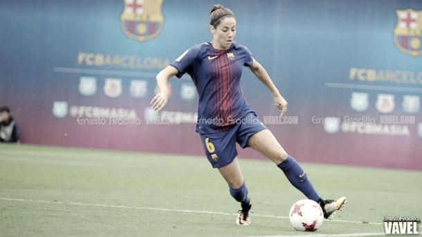 Vicky Losada con el balón en los pies. Foto: Ernesto Aradilla, VAVEL.com
