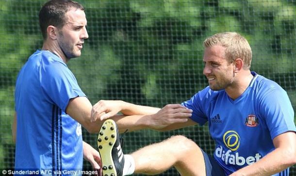 John O'Shea and Lee Cattermole in pre-season training with Sunderland | Photo: Sunderland AFC via Getty Images