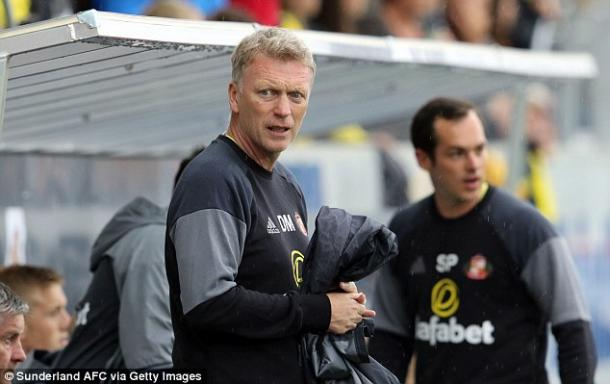 David Moyes on the bench at new club Sunderland | Photo: Sunderland AFC via Getty Images