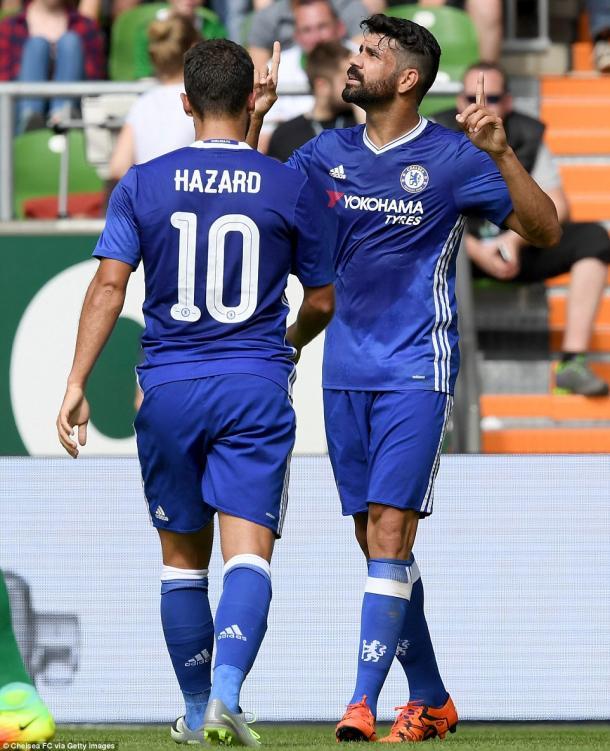 Hazard e Diego Costa:i due protagonisti assoluti del Chelsea di questa stagione | fonte: Getty Images