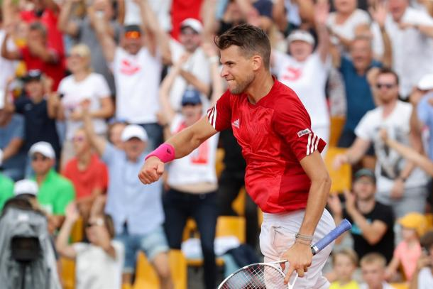 Dominic Thiem comes into St. Petersburg on the heels on a strong performance in Davis Cup. Photo: GEPA Pictures/Davis Cup