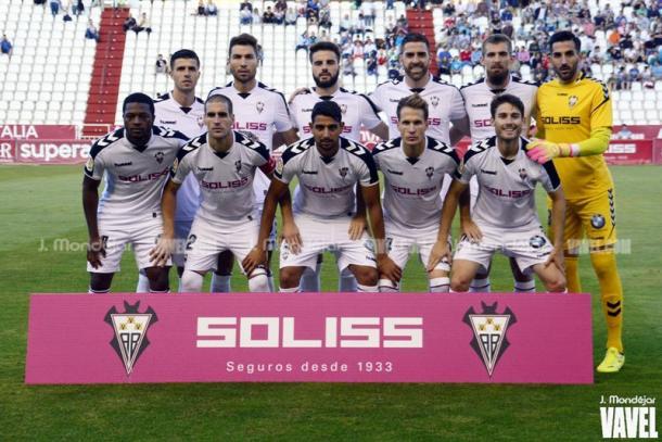 Once titular del Albacete en el partido de esta temporada frente al Lugo | Foto: J. Mondéjar (VAVEL)