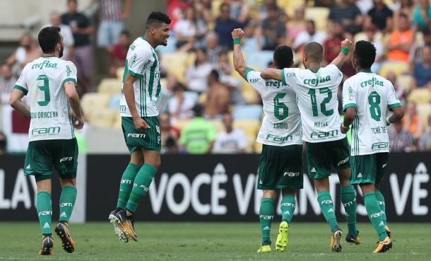 Celebración del gol de Egidio / FOTO: Palmeiras