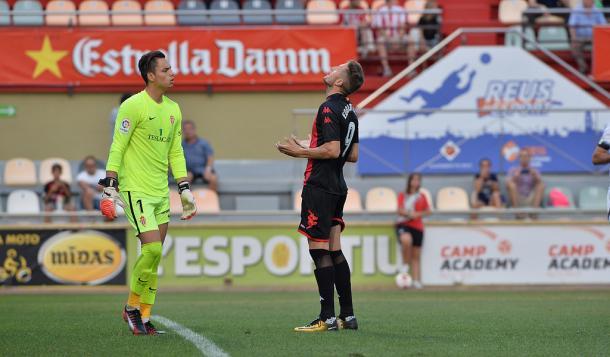 Edgar Hernández falló un penalti en el Reus-Sporting de Copa de 2017 | Foto: CF Reus