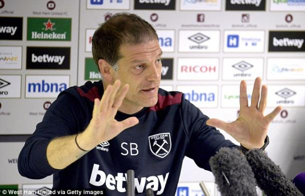 Above: West Ham United manager Slaven Bilic in his pre-match press conference ahead of their game with Chelsea | Photo: West Ham United via Getty Images