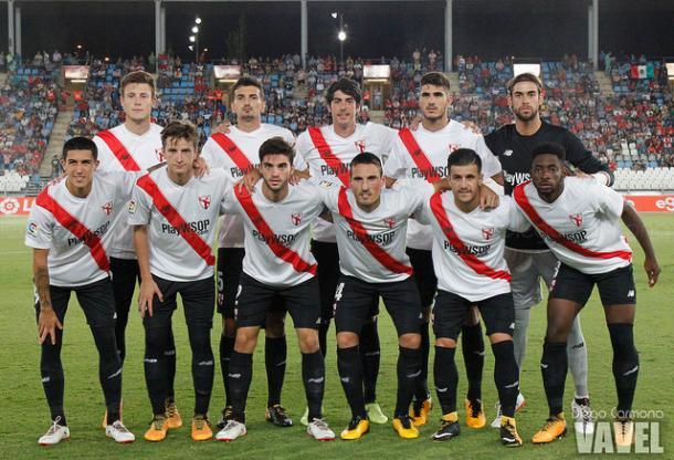 Once titular del Sevilla Atlético en Almería | Foto: Diego Carmona (VAVEL)