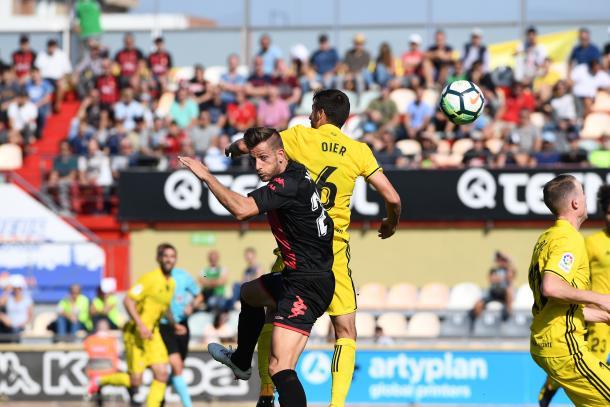 Máyor, protagonista negativo del partido, ante el CA Osasuna la pasada jornada | Foto: CF Reus