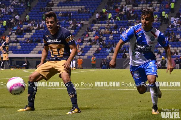 Carlos Gutiérrez durante el último encuentro entre ambos equipos | Foto: Rodrigo Peña VAVEL