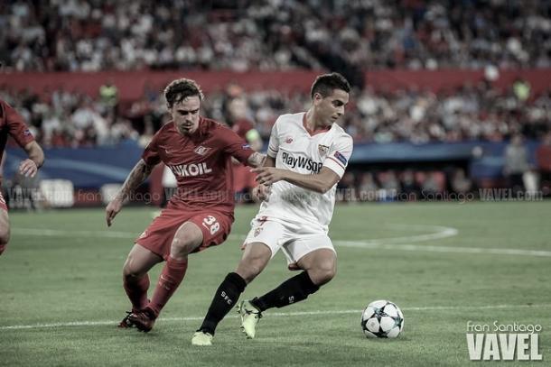 Wissam es el máximo realizador en la historia del Sevilla en Champions // Foto: Fran Santiago