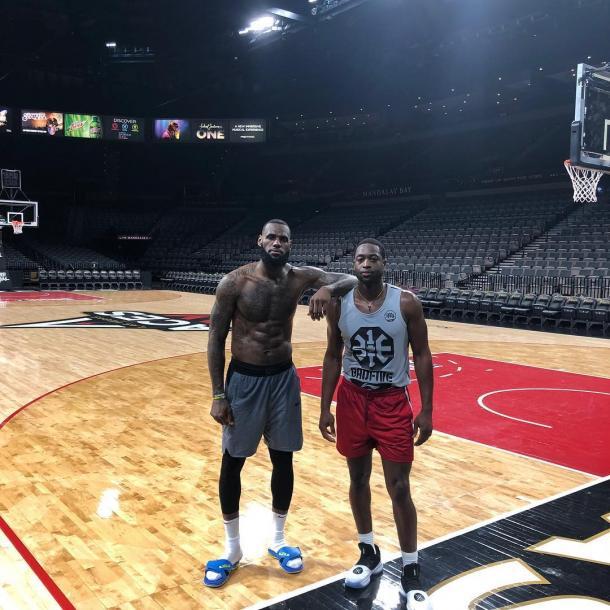 Wade se prepara con LeBron James de cara a la próxima temporada | Foto: @dwyanewade