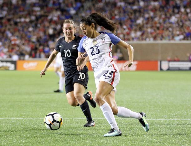 Christen Press was the big addition for Utah during the 2019 season. | Photo: Jamie Smed