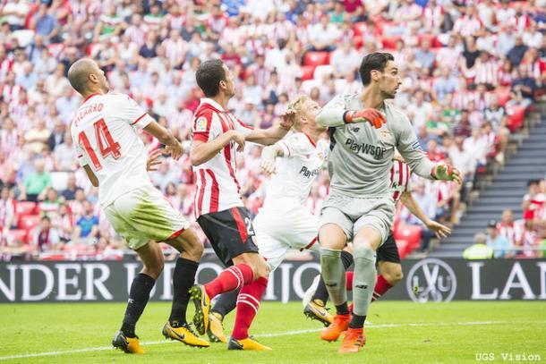 Vesga a punto de anotar su gol. | UGS Vision.