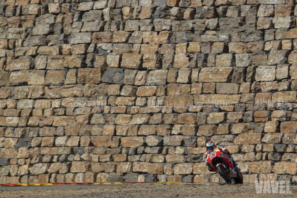 Marc Márquez durante los entrenamientos en Motorland / Foto: Lucas ADSC