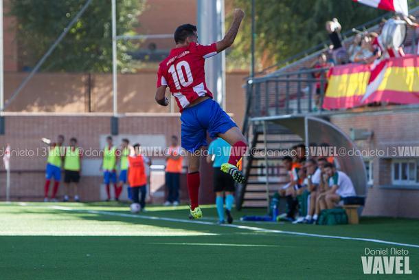 Joaquín Cerdá celebrando un gol | Foto: Dani Nieto (VAVEL)