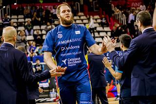 Karnowski durante la presentación de uno de sus partidos con MoraBanc Andorra