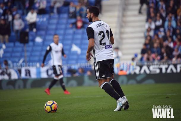 Martín Montoya en el estadio del Espanyol. Foto: Noelia Déniz, VAVEL.com