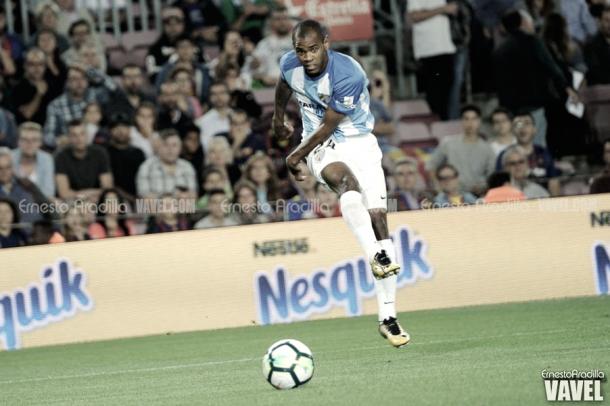 Diego Rolán, actual máximo goleador del Málaga con dos dianas | Foto: Ernesto Aradilla (VAVEL)